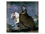 Equestrian Portrait of Queen Isabella of Bourbon  Wife of Philip IV