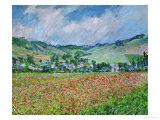 Un champ de coquelicots Giclée par Claude Monet