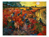 Le vignoble rouge, vers 1888 Reproduction d'art par Vincent Van Gogh