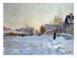 Snow in Argenteuil, 1875 Giclée par Claude Monet