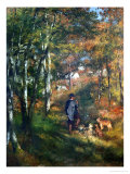 The Painter Lecoeur in the Woods of Fontainebleau, 1866 Giclée par Pierre-Auguste Renoir