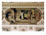 A Greek Travelling Theatre (Il Carro Di Thespis)  Ceiling Fresco  1884-1887