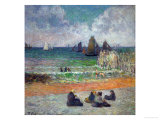 The Beach at Dieppe  or the Bathers  1885