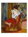 Femme qui lit, vers 1900 Giclée par Pierre-Auguste Renoir