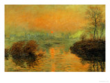 Setting Sun on the Seine at Lavacourt  Effect of Winter  1880