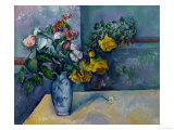 Still Life: Flowers in a Vase Giclée par Paul Cézanne