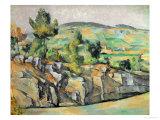 Aix En Provence, Rocky Countryside Giclée par Paul Cézanne