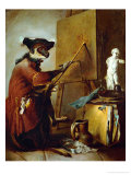 The Monkey as Painter  1740