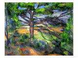 Large Pine Tree and Red Earth, 1890-1895 Giclée par Paul Cézanne