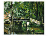 The Bridge at Maincy, Near Melun, 1879 Giclée par Paul Cézanne