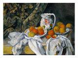 Still Life with Curtain and Flowered Pitcher, 1899 Giclée par Paul Cézanne