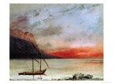 Sunset on Lake Geneva  1874