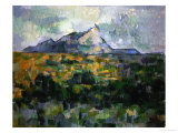 Mount Sainte-Victoire, 1906 Giclée par Paul Cézanne