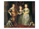 Portraits of the Three Eldest Children of Charles I  King of England