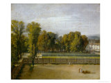View of the Jardin Du Luxembourg  Paris