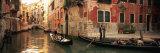 Tourists in a Gondola  Venice  Italy