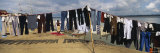 Clothes Hanging on a Clothesline  Varanasi  Uttar Pradesh  India