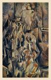 Violon and Jug Reproduction d'art par Georges Braque