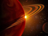 This is an Artist's Concept of Giant Planet Recently Discovered Orbiting the Sun-Like Star 79 Ceti