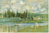 Vue de Vétheuil Tableau sur toile par Claude Monet