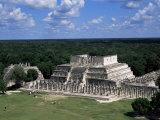 Temple of the Warriors  Chichen Itza  Unesco World Heritage Site  Yucatan  Mexico  North America