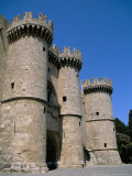 Palace of the Knights  Rhodes Town  Island of Rhodes  Greek Islands  Greece