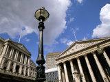 Bank of England and Royal Exchange  City of London  London  England  United Kingdom