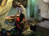 Women Preparing Food and Drink for Coffee Ceremony  Abi Adi Village  Tigre Region  Ethiopia  Africa