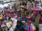 Basket-Work Market  Axoum (Axum) (Aksum)  Tigre Region  Ethiopia  Africa