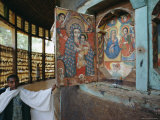 Paintings and Interior in the Ura Kedane Meheriet Christian Church  Lake Tana  Ethiopia