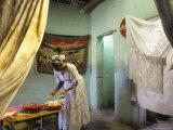 Preparing for Coffee Ceremony  Abi-Adi  Tigre Region  Ethiopia  Africa