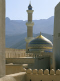 The Mosque Seen from the Fort  Town of Nizwa  Sultanate of Oman  Middle East