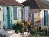 Houses in the Old Colonial Quarter, St. John's, Antigua, Leeward Islands Papier Photo par Bruno Barbier