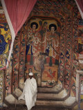 Interior of the Christian Church of Ura Kedane Meheriet  Zege Peninsula  Lake Tana  Ethiopia