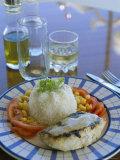 Food and Drink on Board a Catamaran  Praslin  Seychelles  Indian Ocean  Africa