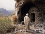 Christian Monastery Church, Gabriel Wuken, Mount Workamba, Tambien, Tigre Provice, Ethiopia, Africa Papier Photo par Bruno Barbier