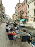 Canalside Cafe  Venice  Veneto  Italy