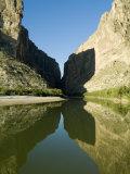Rio Grande River  Santa Elena Canyon  Big Bend National Park  Texas  USA