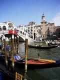 Grand Canal and the Rialto Bridge  Unesco World Heritage Site  Venice  Veneto  Italy