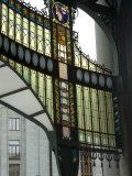 Stained Glass Art Nouveau (Jugendstil) Detail  Municipal House  Prague  Czech Republic