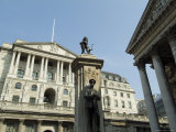 The Bank of England and the Royal Exchange  City of London  London  England  United Kingdom