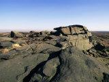 Rock Patterns  Stanage Edge  Peak District National Park  Derbyshire  England