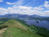 Derwent Water and Lonscale Fell from Cat Bells  Lake District National Park  Cumbria  England