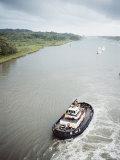 Manoeuvering Tugs  Panama Canal  Panama  Central America