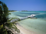 Beach and Jetty  Near Georgetown  Exuma  Bahamas  West Indies  Central America