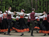 Traditional Latvian Folk Dancing  Near Riga  Baltic States