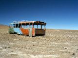 Bus Wreck  Near Chilean Border  Salar De Uyuni  Bolivia  South America
