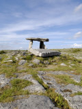 Poulnabrone Dolmen Portal Megalithic Tomb  the Burren  County Clare  Munster  Republic of Ireland