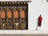 Buddhist Monk  Punakha Dzong  Punakha  Bhutan
