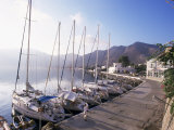 Yachts  Livadhia  Island of Tilos  Dodecanese  Greece